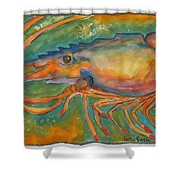 Shrimp Head Shower Curtain