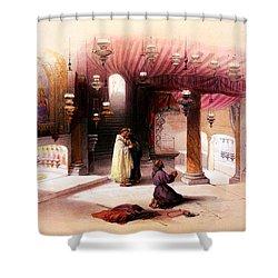 Shrine Of The Nativity Bethlehem April 6th 1839 Shower Curtain