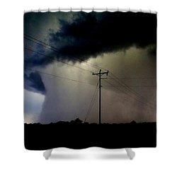 Shrouded Tornado Shower Curtain by Ed Sweeney