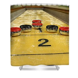 Shuffleboard Shower Curtain