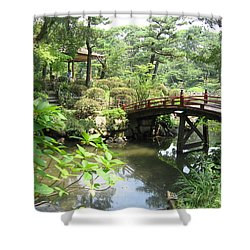 Shukkeien Bridge Shower Curtain