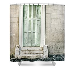 Shuttered Doors Shower Curtain