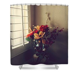 Shutters Shower Curtain by Laurie Search
