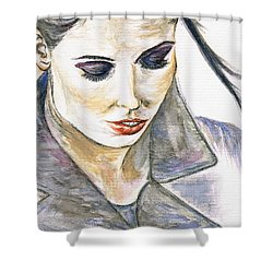 Shy Lady Shower Curtain