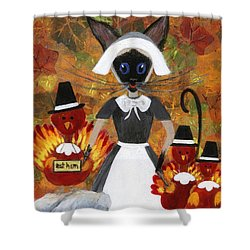 Siamese Queen Of Thanksgiving Shower Curtain by Jamie Frier
