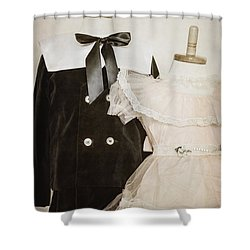 Siblings Shower Curtain by Margie Hurwich