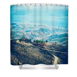 Shower Curtain featuring the photograph Sicilian Land After Fire by Silvia Ganora