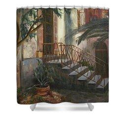 Sicilian Nunnery Shower Curtain by Donna Tuten