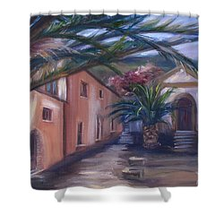 Sicilian Nunnery II Shower Curtain by Donna Tuten