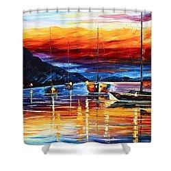 Sicily Messina Shower Curtain by Leonid Afremov