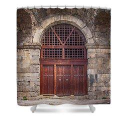 Side Amphitheatre 04 Shower Curtain by Antony McAulay