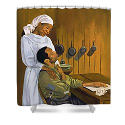 Side By Side Shower Curtain by Colin Bootman