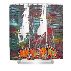 Side By Side - Sold Shower Curtain by George Riney
