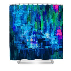 Side By Side Shower Curtain by Jack Zulli