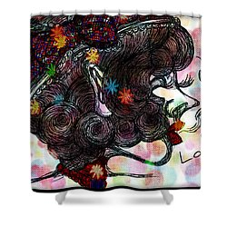 Side Face Lady Shower Curtain
