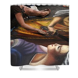 Sidewalk Art 3 Shower Curtain by Bob Christopher