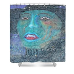 Shower Curtain featuring the photograph Sidewalk Halloween Contest by Janette Boyd
