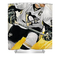 Sidney Crosby Artwork Shower Curtain by Sheraz A