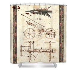 Siege Crossbow Shower Curtain by Garry Walton
