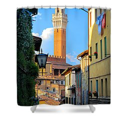 Siena Streets Shower Curtain by Inge Johnsson