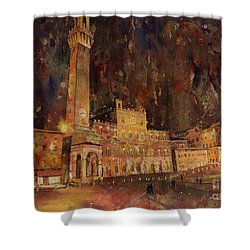 Siena Sunset Shower Curtain