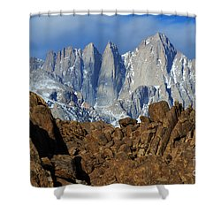 Sierra Nevada California Shower Curtain by Bob Christopher