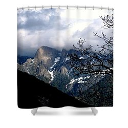 Sierra Nevada Snowy View Shower Curtain by Matt Harang