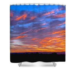 Sierra Nevada Sunrise Shower Curtain by Eric Tressler