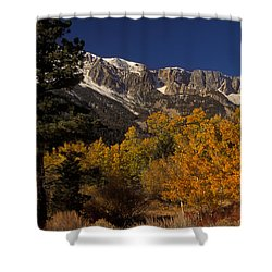 Sierra Nevadas In Autumn Shower Curtain by Ron Sanford