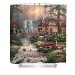 Sierra River Falls Shower Curtain by Chuck Pinson