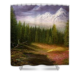 Sierra Spring Storm Shower Curtain