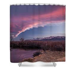 Sierra Wave And Lower Owens Shower Curtain by Cat Connor