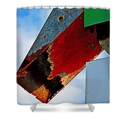 Sign Of The Times Shower Curtain by Rick Mosher