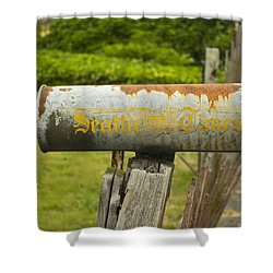 Sign Of The Times Seattle Times Shower Curtain