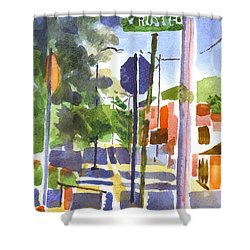 Sign Posts Shower Curtain