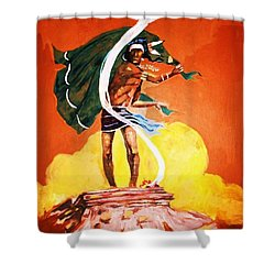 Signal From The Mesa Shower Curtain by Al Brown