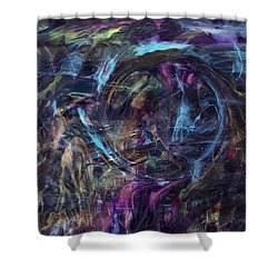 Signal To Noise Shower Curtain by Linda Sannuti