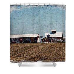 Signs Shower Curtain by Cassie Peters