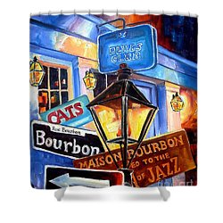 Signs Of Bourbon Street Shower Curtain by Diane Millsap