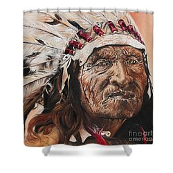 Signs Of His Times Shower Curtain by Annalise Kucan