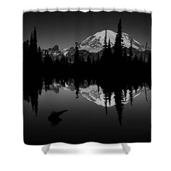 Sihlouette With Tipsoo Shower Curtain by Mark Kiver