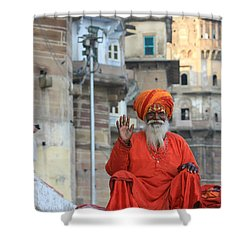 Indian Man Shower Curtain