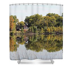 Silence And Solatuid  Shower Curtain by Lori Tordsen
