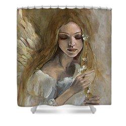Silence Shower Curtain by Dorina  Costras