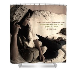 Silence Shower Curtain by Kristie  Bonnewell