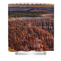 Silent City - Bryce Canyon Shower Curtain by Eduard Moldoveanu