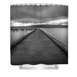 Silent Dock Shower Curtain by Charlie Duncan