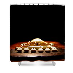Shower Curtain featuring the photograph Silent Guitar by Greg Simmons