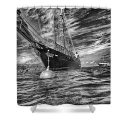 Shower Curtain featuring the photograph Silent Lady by Howard Salmon