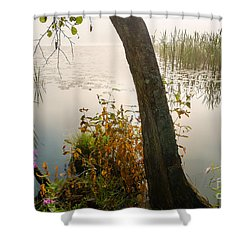 Silent Lakeside Shower Curtain